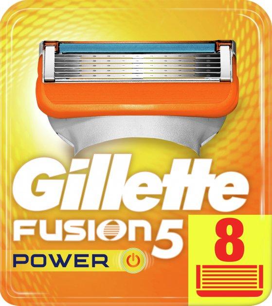Сменные картриджи для бритья (лезвия) мужские Gillette Fusion5 Power 8 шт (7702018877621)