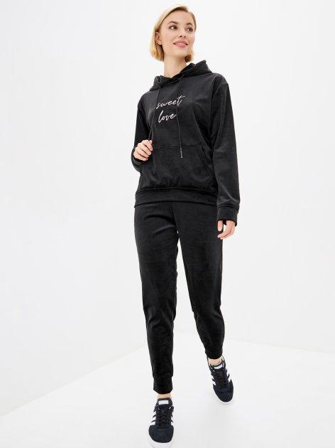 Спортивный костюм Lilove 052 4XL(54-56) Черный (ROZ6400022441) - изображение 1