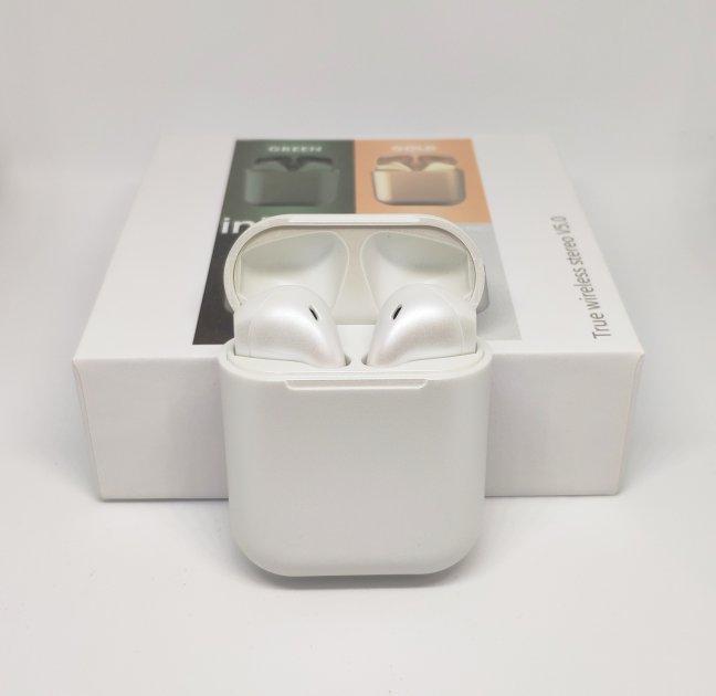 Беспроводные наушники Inpods 12 TWS Bluetooth White-Silver - изображение 1