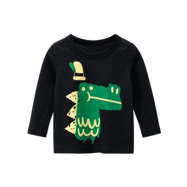 Лонгслив для мальчика Green crocodile 27 KIDS (130) Черный (56443) - изображение 1