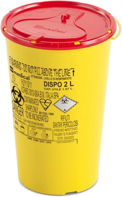 Контейнер для сбора игл и медицинских отходов AP Medical DISPO 2 л (2060300 4337 04) - изображение 1