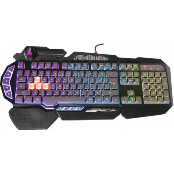 Клавіатура A4tech Bloody B314 USB Black Ігрова, мультимедійна - зображення 1