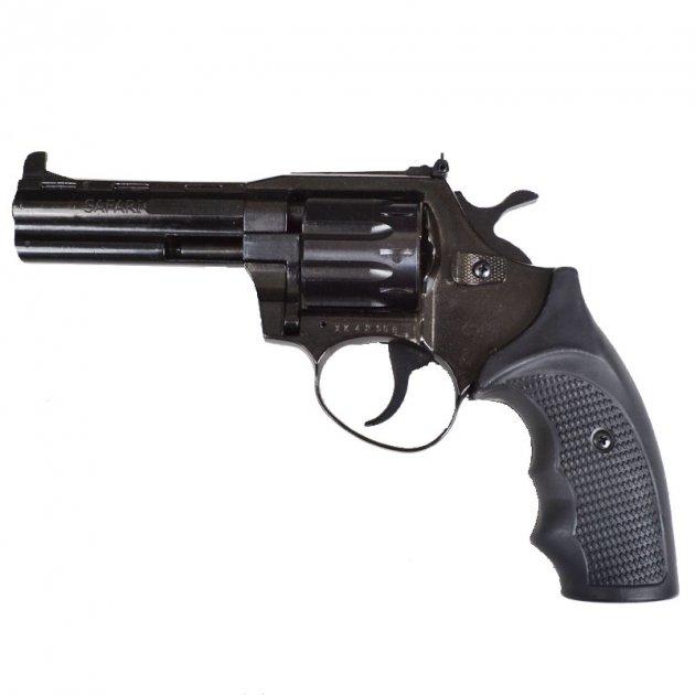 Револьвер под патрон Флобера Safari PRO 441м (4.0'', 4.0mm), ворон-пластик - изображение 1