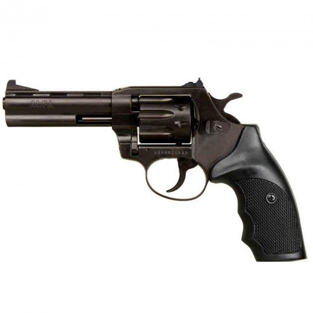 """Револьвер під патрон Флобера Alfa 441 (4.0"""", 4.0 мм), ворон-пластик - зображення 1"""