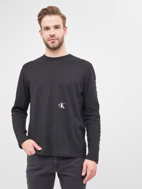 Лонгслив Calvin Klein Jeans Car Photoprint LS Tee J30J316462-BEH XL CK Black (8719853166031) - изображение 1
