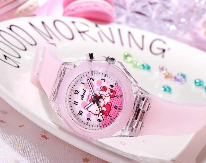 """Дитячі світлодіодні годинник """"Hello Kitty"""" YW5525 PINK - зображення 1"""