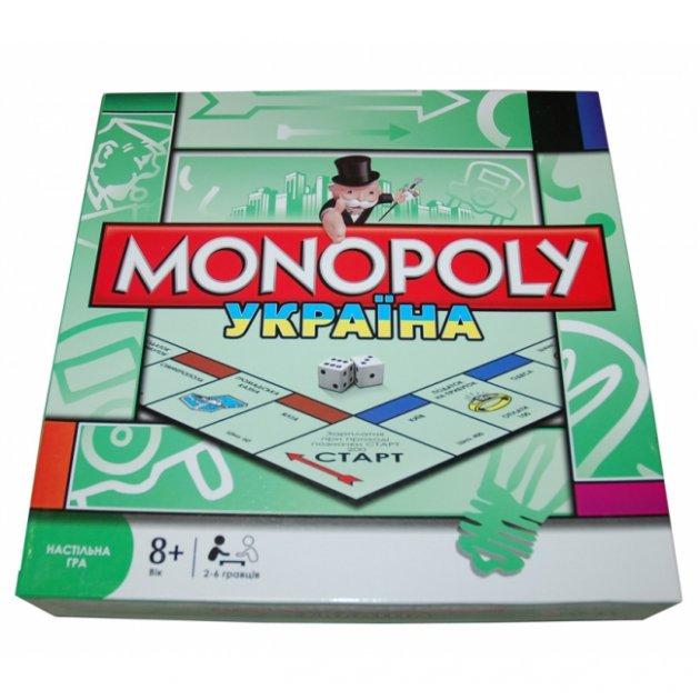 Розвиваюча Настільна гра Монополія Україна Monopoly METR+ для дітей та дорослих Від 2 до 6 учасників Українська версія - зображення 1