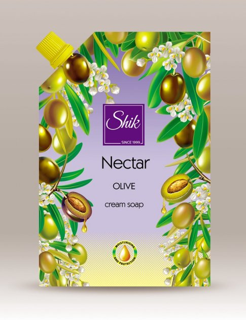 Жидкое крем-мыло Шик Nectar Оливковое 460 мл - изображение 1