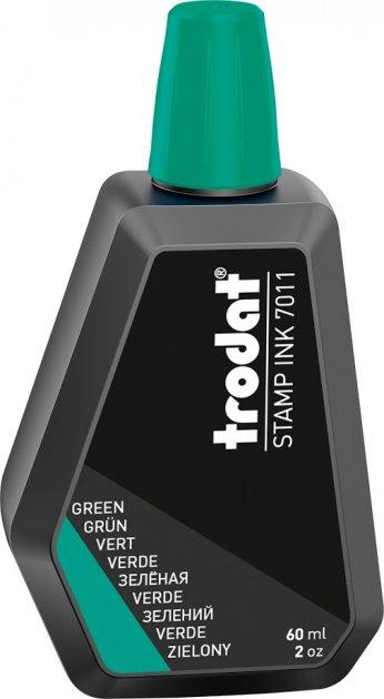 Штемпельная краска на водной основе Trodat 7011 60 мл Зеленая (7011/60 зелен)