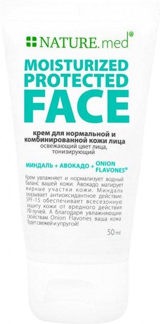 Крем для нормальной и комбинированной кожи NATURE.med Защитное увлажнение SPF 15 50 мл (4820065531402) - изображение 1