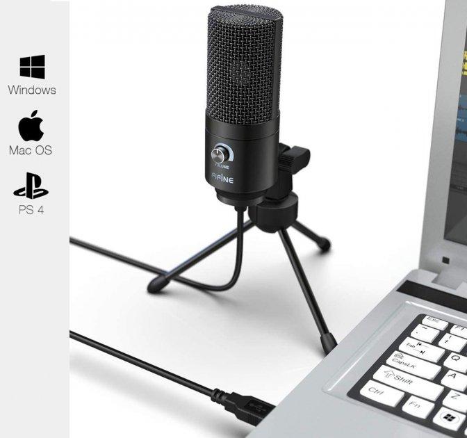 Мікрофон FIFINE K669B чорний, USB конденсаторний - зображення 1