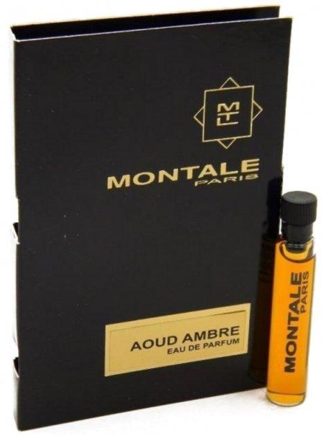 Пробник Парфюмированная вода унисекс Montale Aoud Ambre 2 мл (ROZ6400100304) - изображение 1
