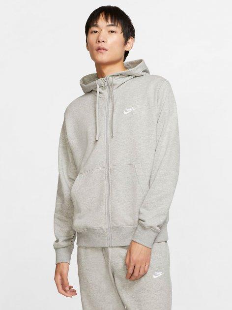 Толстовка Nike M Nsw Club Hoodie Fz Ft BV2648-063 L Светло-серая (193147704020) - изображение 1