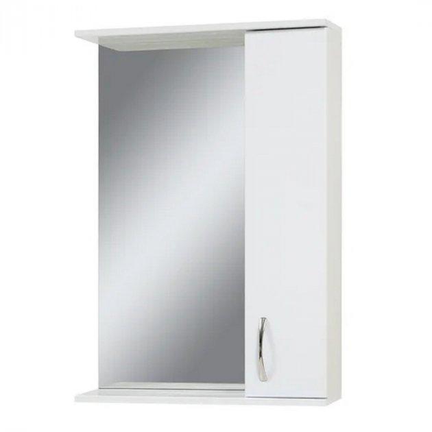 Зеркало в ванную VERONA Эко 50 см. с подсветкой, белое - изображение 1