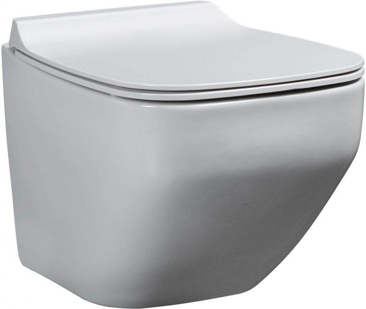 Унітаз підвісний EGE VITRIFIYE Alvona 86303 із сидінням Soft Close дюропласт - зображення 1
