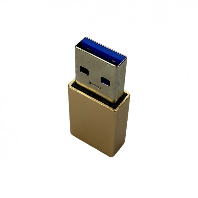 Перехідник для зарядки і пердачи даних з Type-C на USB золото gold - зображення 1