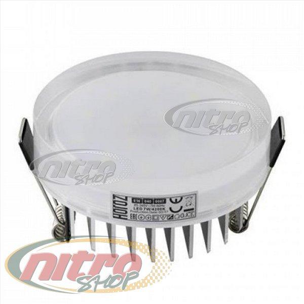 Світильник врізний світлодіодний LED Horoz Electric VALERIA-7 7Вт (~56Вт) 220В 4200K Круглий Білий (016-040-0007) - зображення 1