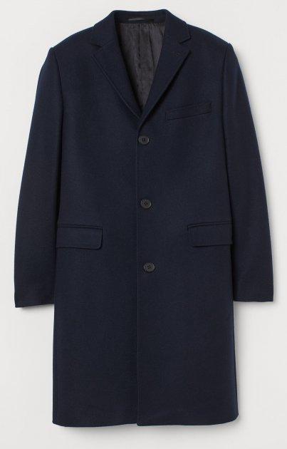Пальто H&M 810-7659070 46 Темно-синє (hm09678431815) - зображення 1