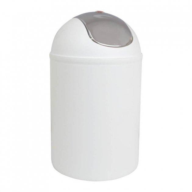 Відро для сміття Trento Deco 5л білий - зображення 1