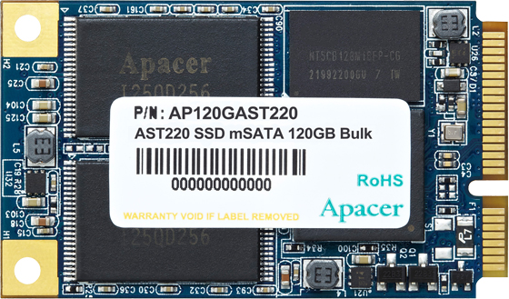Apacer AST220 120GB mSATA SATAIII 3D NAND TLC (AP120GAST220-1) - зображення 1