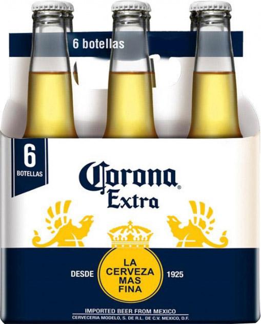 Упаковка пива Corona Extra светлое пастеризованное 4.5% 0.33 л х 6 шт (7501064199851) - изображение 1