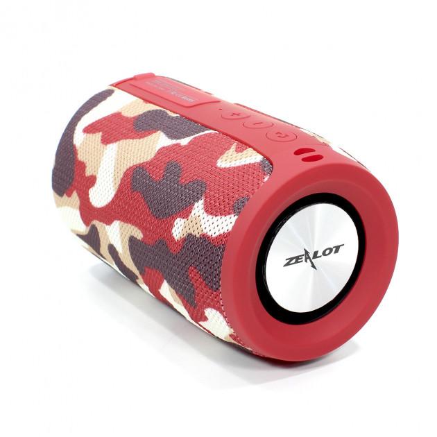 Бездротова Bluetooth колонка Zealot S32 Червоний камуфляж - зображення 1