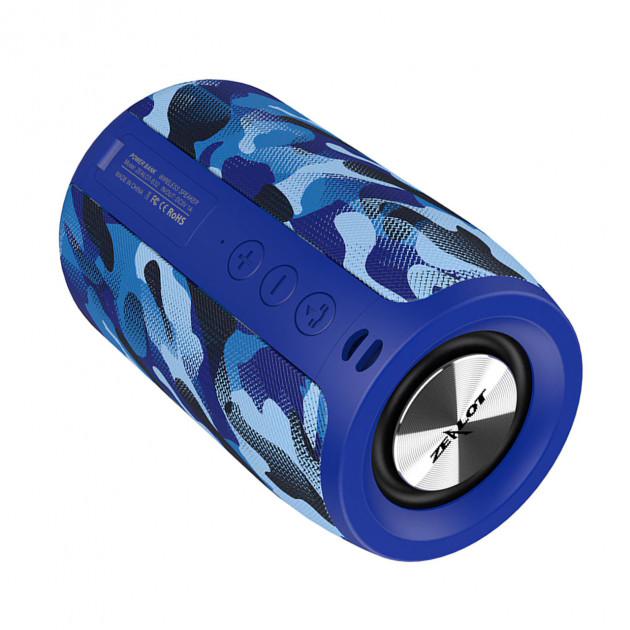 Бездротова Bluetooth колонка Zealot S32 Синій камуфляж - зображення 1