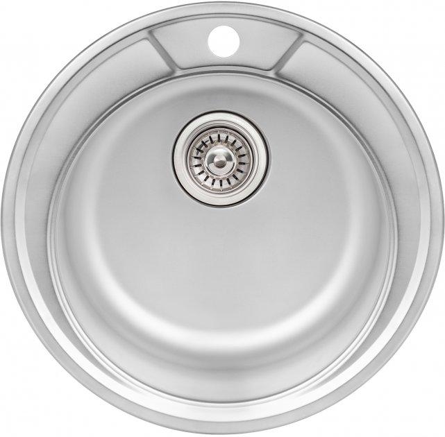 Кухонна мийка QTAP D490 Satin 0.8 мм (QTD490SAT08) - зображення 1