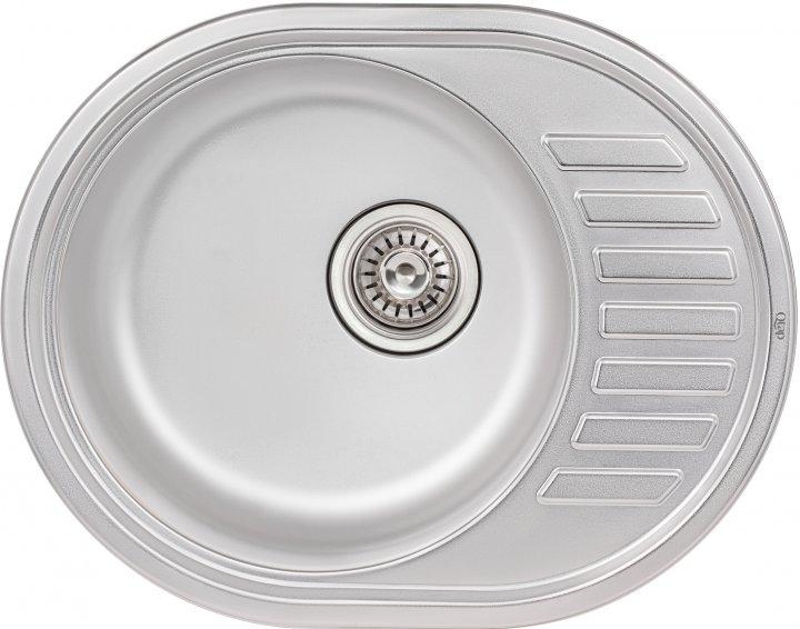 Кухонна мийка QTAP 5745 Satin 0.8 мм (QT5745SAT08) - зображення 1