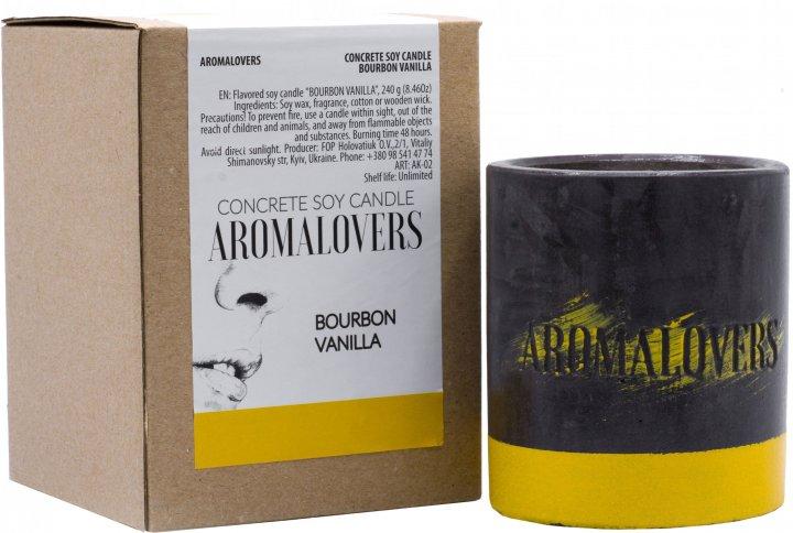 Ароматическая свеча Aromalovers Бурбонская ваниль соевая в бетоне 240 г (ROZ6300000036) - изображение 1