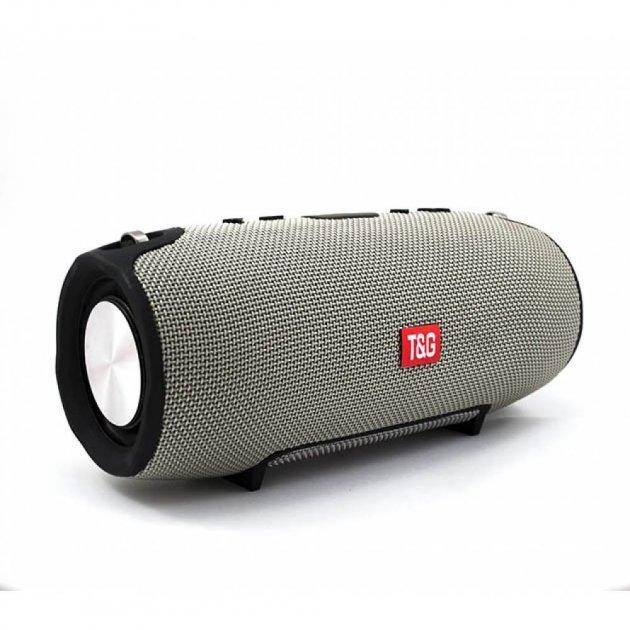 Портативна Bluetooth стерео колонка вологостійка бездротова T&G Xtreme Сіра (Xtreme smol Grey) - зображення 1