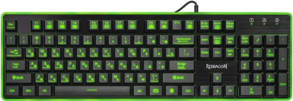 Клавіатура дротова Redragon Dyaus USB (ENG/UKR/RUS) Black (77625) - зображення 1