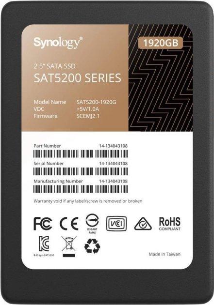 """Твердотельный накопитель SSD Synology SATA 2.5"""" 1.9TB (JN63SAT5200-1920G) - зображення 1"""