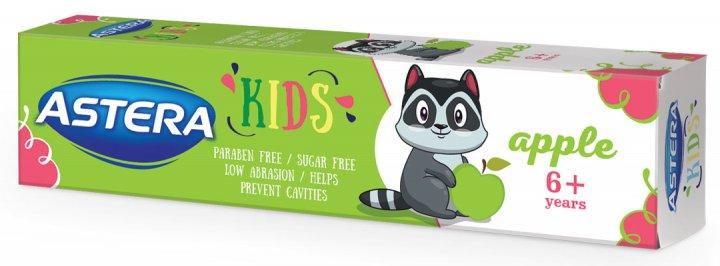 Детская зубная паста Astera Kids для детей от 6 лет и старше с ароматом яблока 50 мл (3800013514382) - изображение 1