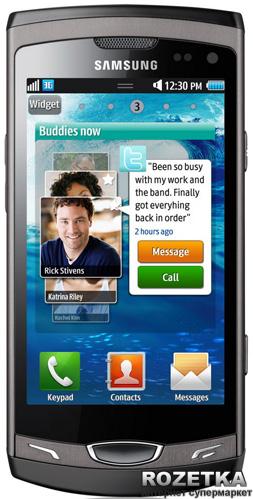 Мобильный телефон Samsung Wave II S8530 Titan Grey - изображение 1