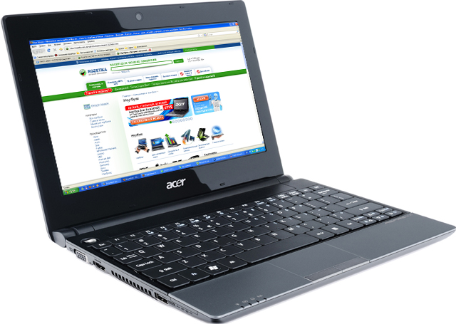 Ноутбук Acer Aspire One 521-12Cki (LU.SBS0C.003) Black - зображення 1
