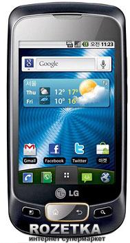 Мобильный телефон LG Optimus One P500 Black Gold - изображение 1