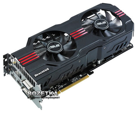 Asus PCI-Ex GeForce GTX 570 1280MB GDDR5 (320bit) (742/3800) (2 x DVI, HDMI, Display Port) (ENGTX570 DCII/2DIS/1280MD5) - изображение 1