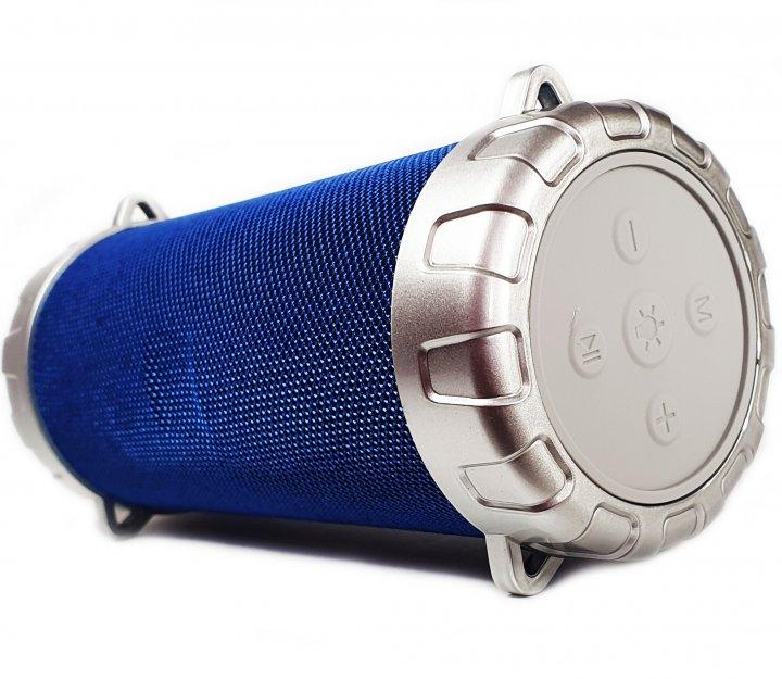 Портативная беспроводная Bluetooth стерео колонка Bazuka SPS S07 с цветомузыкой Синяя (S07 Blue) - изображение 1