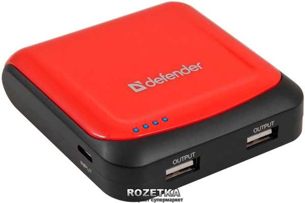 УМБ Defender ExtraLife 5200 mAh Red (83603) - зображення 1