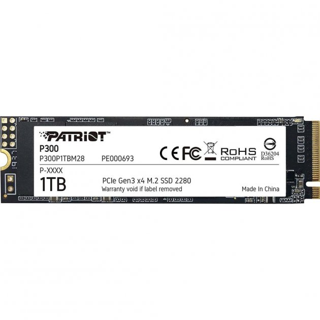 Накопитель SSD M.2 2280 1TB Patriot (P300P1TBM28) - изображение 1