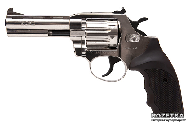 "Револьвер Alfa мод 441 4"" (нікель, пластик) 144919/5 (14310048) - зображення 1"