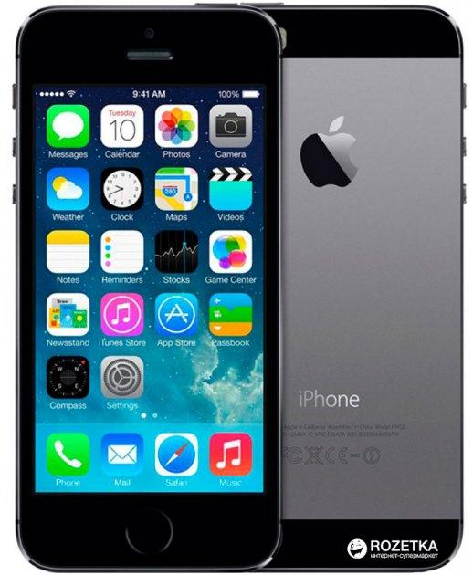 Мобильный телефон Apple iPhone 5s 16GB Space Gray (ME432UA/A) - изображение 1