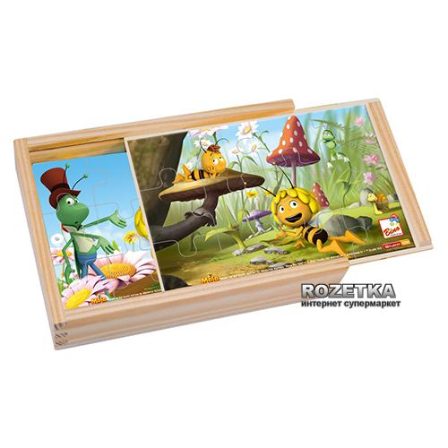 Пчелка Майя 4 пазла в деревянной коробке Bino (13622) - изображение 1