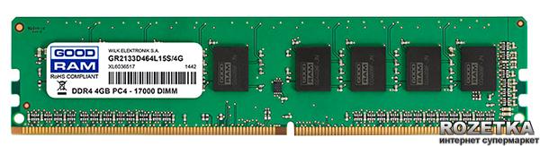 Оперативна пам'ять Goodram DDR4-2133 4096MB PC4-17000 (GR2133D464L15S/4G) - зображення 1