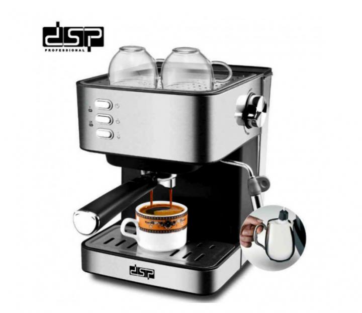 Кофемашина DSP ESPRESSO COFFEE MAKER KA3028 напівавтоматична з капучинатором для будинку - зображення 1