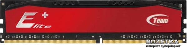 Оперативна пам'ять Team Elite Plus DDR3-1600 4096MB PC-12800 Red (TPRD34G1600HC1101) - зображення 1