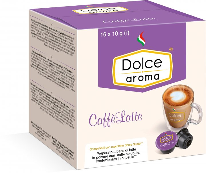 Капсула Dolce Aroma CaffeLatte для системы Dolce Gusto 10 г х 16 шт (4820093484978_4820093484985) - изображение 1