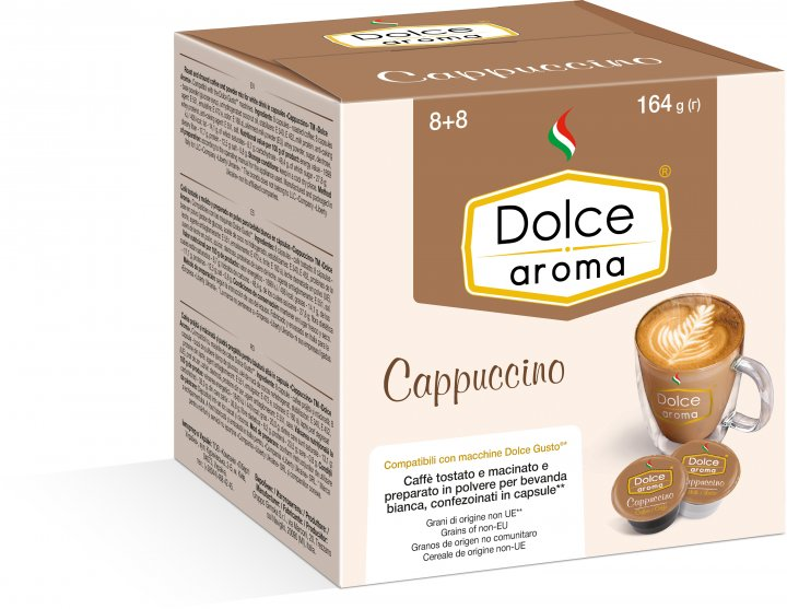 Капсула Dolce Aroma Сappuccino для системы Dolce Gusto 13.5 г х 8 шт + 7 г х 8 шт (4820093484954_4820093484961) - изображение 1