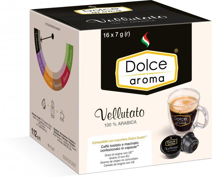 Капсула Dolce Aroma Vellutato для системы Dolce Gusto 7 г х 16 шт (4820093484992_4820093484909) - изображение 1